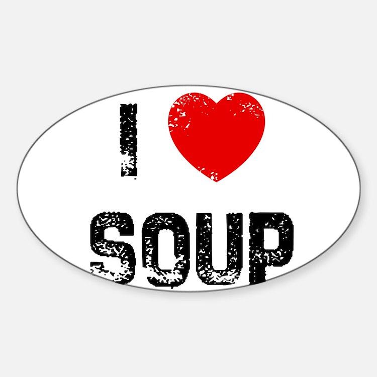 I * Soup Oval Decal