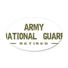 army_ngd_ret.png Oval Car Magnet