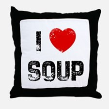 I * Soup Throw Pillow