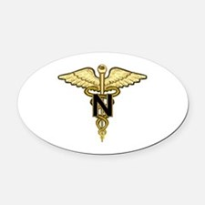 nurse_corps5.png Oval Car Magnet