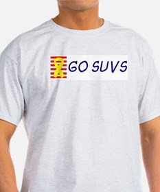 Support Our SUVs Yellow Ribbon Oil Ash Grey T-Shir