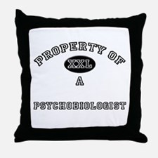 Property of a Psychobiologist Throw Pillow