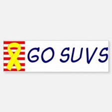 Support Our SUVs Yellow Ribbon Oil Bumper Bumper Sticker