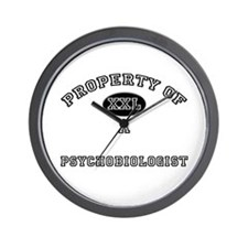 Property of a Psychobiologist Wall Clock
