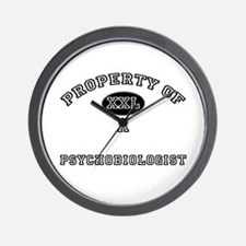 Property of a Psychobiologist Wall Clock
