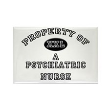 Property of a Psychiatric Nurse Rectangle Magnet