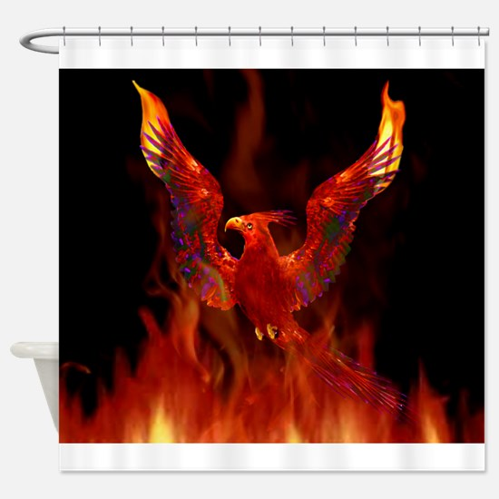 firebird1.jpg Shower Curtain