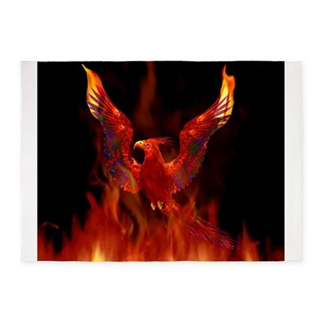Firebird1 5u0027x7u0027Area Rug
