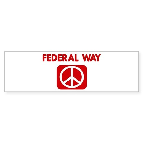 FEDERAL WAY for peace Bumper Sticker
