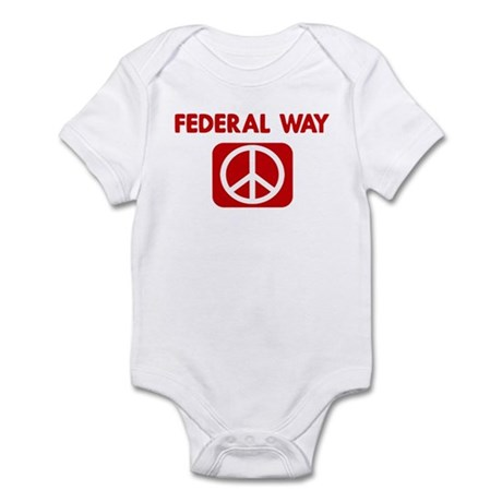 FEDERAL WAY for peace Infant Bodysuit