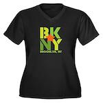 BK Brooklyn, NY Women's Plus Size V-Neck Dark T-Sh