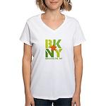 BK Brooklyn, NY Women's V-Neck T-Shirt