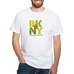 BK Brooklyn, NY White T-Shirt