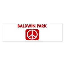BALDWIN PARK for peace Bumper Bumper Sticker