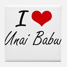 I love Unai Babui Northern Mariana Is Tile Coaster