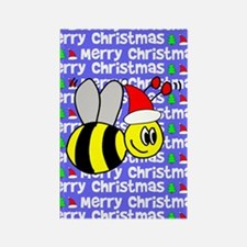Christmas Bumble Bee Rectangle Magnet