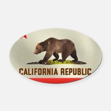 californiabf.png Oval Car Magnet