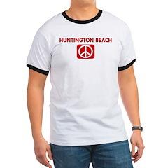 HUNTINGTON BEACH for peace T