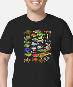 Cool Fish Men's Fitted T-Shirt (dark)
