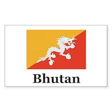 Bhutan Rectangle Decal