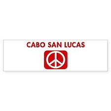 CABO SAN LUCAS for peace Bumper Bumper Sticker