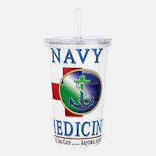 navy_medicine2a.png Acrylic Double-wall Tumbler