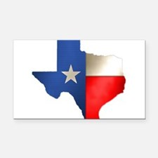state_texas.png Rectangle Car Magnet