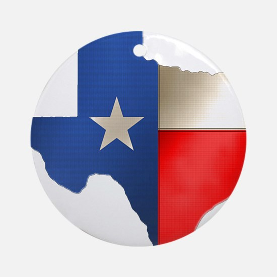 state_texas.png Round Ornament