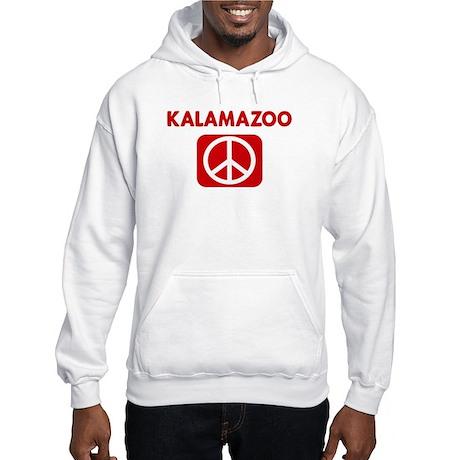 KALAMAZOO for peace Hooded Sweatshirt