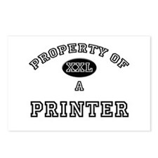 Property of a Printer Postcards (Package of 8)