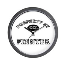 Property of a Printer Wall Clock