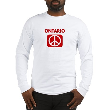 ONTARIO for peace Long Sleeve T-Shirt