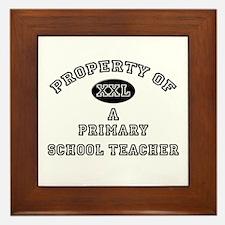 Property of a Primary School Teacher Framed Tile