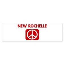 NEW ROCHELLE for peace Bumper Bumper Sticker