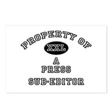 Property of a Press Sub-Editor Postcards (Package