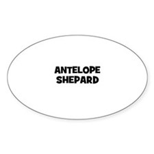antelope shepard Oval Decal