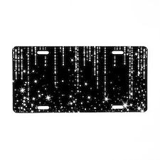 STAR SHOWER Aluminum License Plate