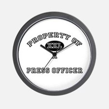 Property of a Press Officer Wall Clock