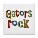 Gators Alligators Football Rock Tile Coaster
