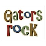 Gators Alligators Football Rock Small Poster