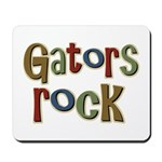 Gators Alligators Football Rock Mousepad