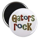 "Gators Alligators Football Rock 2.25"" Magnet (10 p"