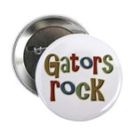 "Gators Alligators Football Rock 2.25"" Button (100"