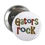 Gators Alligators Football Rock Button