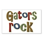 Gators Alligators Football Rock Sticker (Rectangul