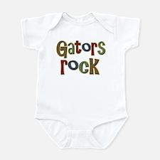 Gators Alligators Football Rock Infant Bodysuit