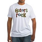 Gators Alligators Football Rock Fitted T-Shirt