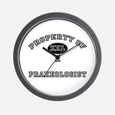 Property of a Praxeologist Wall Clock