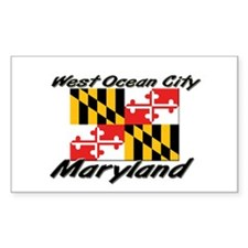 West Ocean City Maryland Rectangle Decal