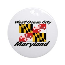 West Ocean City Maryland Ornament (Round)